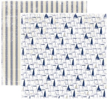 "Maja Design - Life By The Sea Collection - 12""x12"" Double Sided Paper - Regatta"