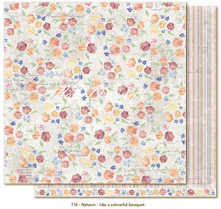 "Maja Design - Nyhavn Collection - 12""x12"" Double Sided Cardstock - Like a Colourful Bouquet"