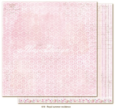 "Maja Design - Sofiero Collection - 12""x12"" Double Sided Cardstock - Royal Summer Residence"