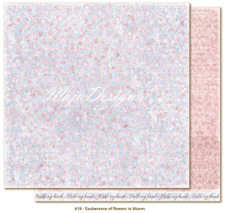 "Maja Design - Sofiero Collection - 12""x12"" Double Sided Cardstock - Exuberance of Flowers in Bloom"