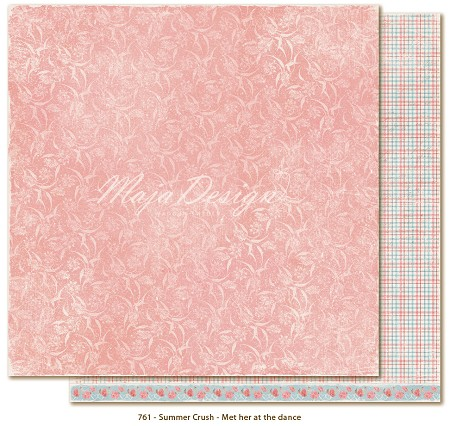 "Maja Design - Summer Crush Collection - 12""x12"" Double Sided Cardstock - Meet Her at the Dance"