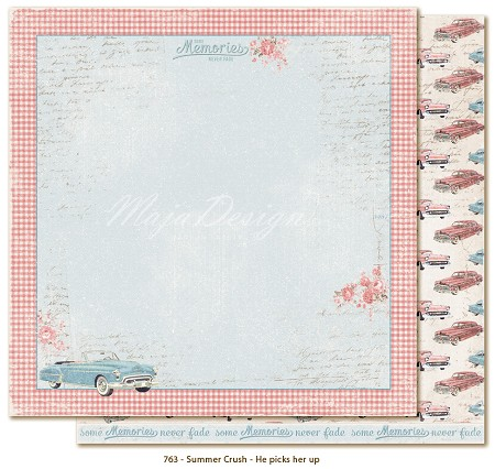 "Maja Design - Summer Crush Collection - 12""x12"" Double Sided Cardstock - He Picks Her Up"