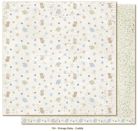 "Maja Design - Vintage Baby Collection - 12""x12"" Double Sided Cardstock - Cuddly"