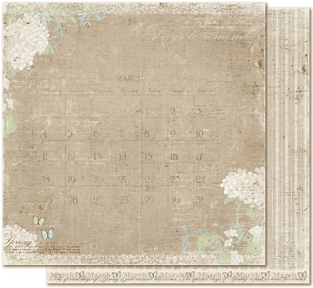 "Maja Design - Vintage Spring Basics Collection - 12""x12"" Double Sided Paper - 9th of March"