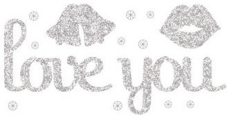 Making Memories - Glitter Bling Word Stickers - Love You