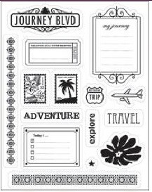 Making Memories - Panorama Collection - Clear Stamp Set