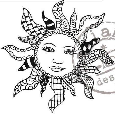 Marianne Design - Clear Stamp - Doodle Sun