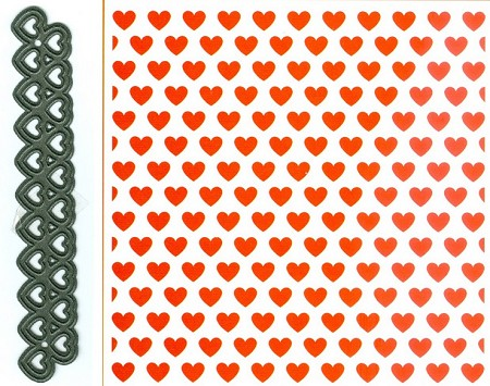 Marianne Design - Embossing Folder + Die Set - Hearts