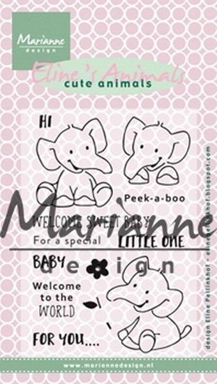 Marianne Design - Clear Stamp - Eline's Cute Animals Elephant