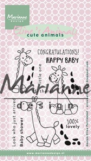 Marianne Design - Clear Stamp - Eline's Cute Animals Giraffe