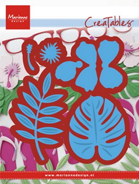 Marianne Design - Creatables Die - Tropical Flowers and Leaves
