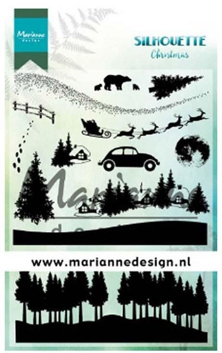 Marianne Design - Clear Stamp - Silhouette Christmas
