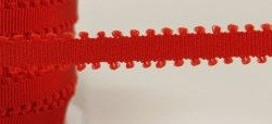"May Arts Ribbon - 1/4"" Grosgrain with Picot Edge - Red (Price per yard)"