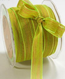 "May Arts Ribbon - 5/8"" Mesh- Lime Green (per yard)"