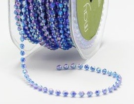 May Arts - 4mm String Beads - Sapphire Blue (1 yard)