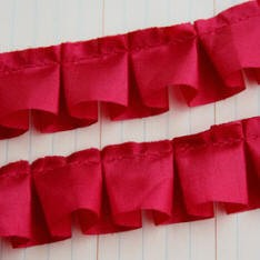 Maya Road Ribbon: Large Satin Pleat - Red