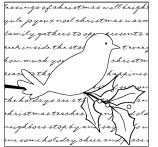 Memory Box-Wood Mounted Stamp-Scripted Holly Bird