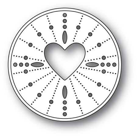 Memory Box - Die - Pinpoint Heart Circle