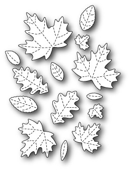 Poppy Stamps - Die - Fall Leaf Collage