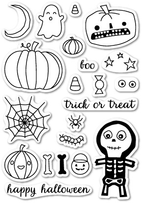 Memory Box - Open Studio Clear Stamp Sets - Halloween Sideshow