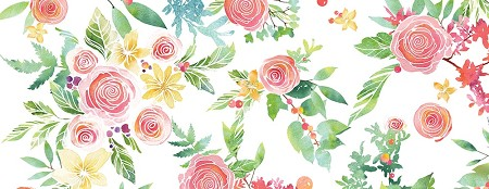 "Memory Box - Washi Tape - 4-1/2"" Rose Bouquet Washi Tape"
