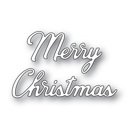 Memory Box - Die - Merry Christmas Noted Script