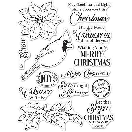 Memory Box - Clear Stamp - Spirit of Christmas clear stamp set