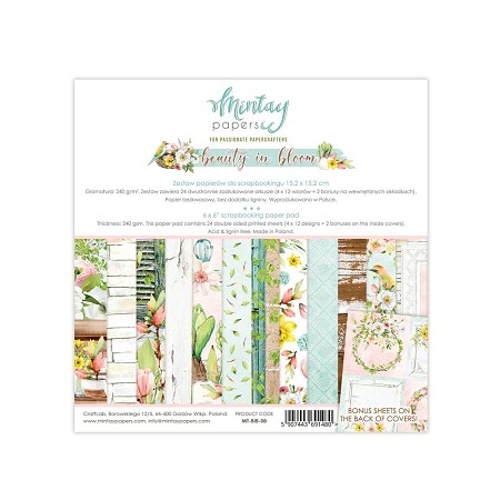 "Mintay by Karola - Beauty in Bloom Collection - 6""x6"" Paper Pad"