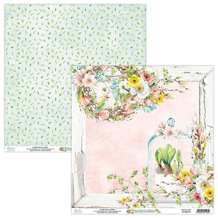 "Mintay by Karola - Beauty in Bloom Collection - 12""x12"" Cardstock - #3"