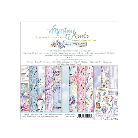 "Mintay by Karola - Dreamer Collection - 6""x6"" Paper Pad"