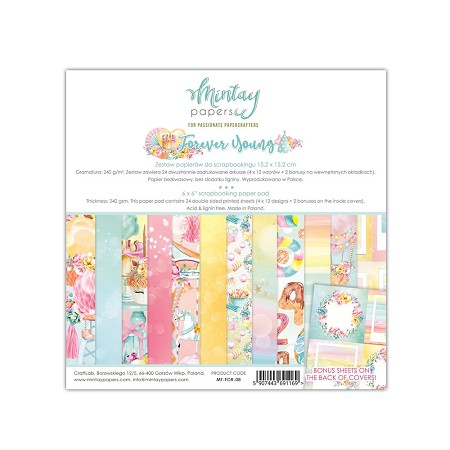 "Mintay by Karola - Forever Young Collection - 6""x6"" Paper Pad"