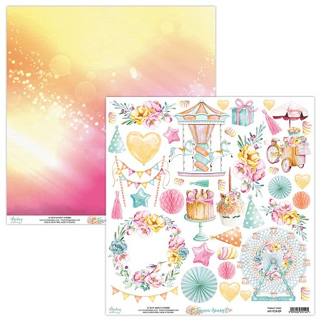 "Mintay by Karola - Forever Young Collection - 12""x12"" Cardstock - #9 Elements to cut"