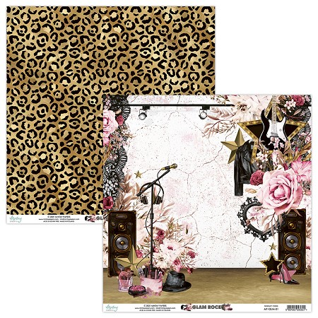 "Mintay by Karola - Glam Rock Collection - 12""x12"" Cardstock - #1"