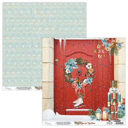 "Mintay by Karola - Home For Christmas Collection - 12""x12"" Cardstock - #2"