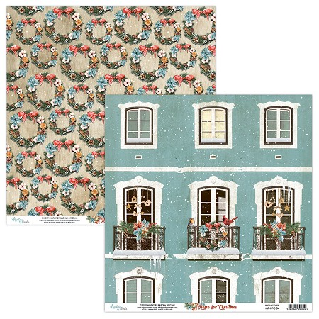 "Mintay by Karola - Home For Christmas Collection - 12""x12"" Cardstock - #4"