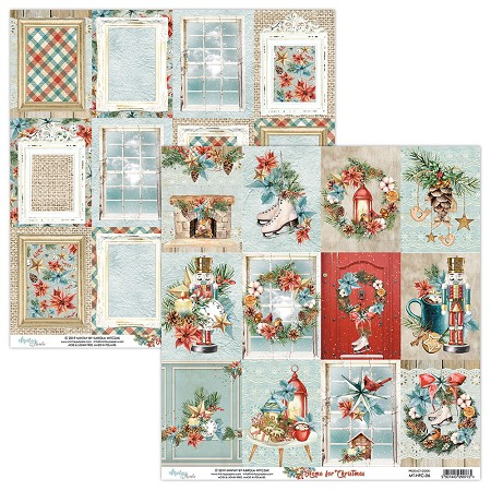 "Mintay by Karola - Home For Christmas Collection - 12""x12"" Cardstock - #6 Journal Cards"
