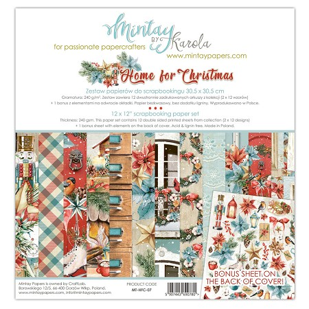 Mintay by Karola - Home For Christmas Collection - Collection Pack