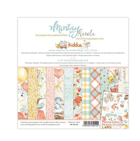"Mintay by Karola - Kiddie Collection - 6""x6"" Paper Pad"