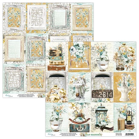 "Mintay by Karola - Old Manor Collection - 12""x12"" Cardstock - #6 Journal Cards"