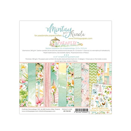 "Mintay by Karola - Paradise Collection - 6""x6"" Paper Pad"