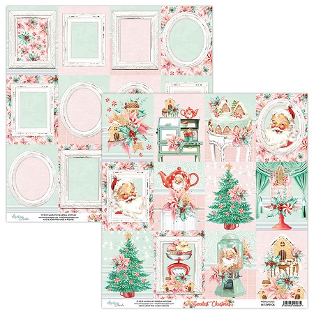 "Mintay by Karola - Sweetest Christmas Collection - 12""x12"" Cardstock - #6 Journal Cards"
