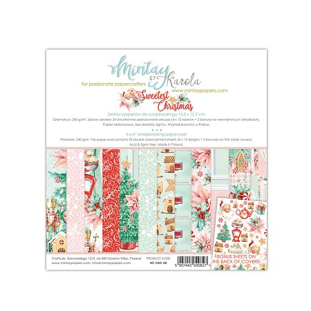 "Mintay by Karola - Sweetest Christmas Collection - 6""x6"" Paper Pad"