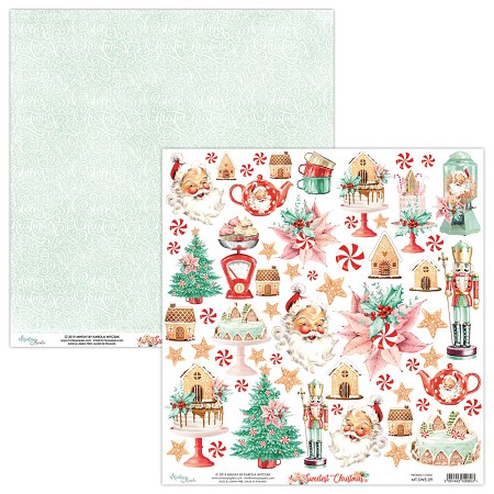 "Mintay by Karola - Sweetest Christmas Collection - 12""x12"" Cardstock - #9 Elements to cut"