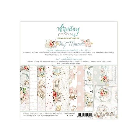 "Mintay by Karola - Tiny Miracle Collection - 6""x6"" Paper Pad"