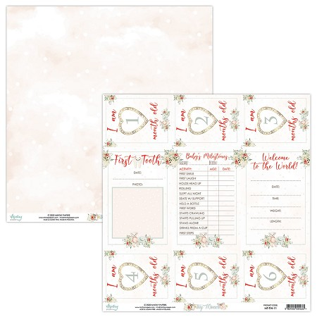 "Mintay by Karola - Tiny Miracle Collection - 12""x12"" Cardstock - #11 First Year"