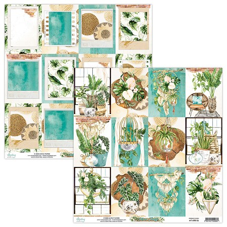 "Mintay by Karola - Urban Jungle Collection - 12""x12"" Cardstock - #6 Journal Cards"
