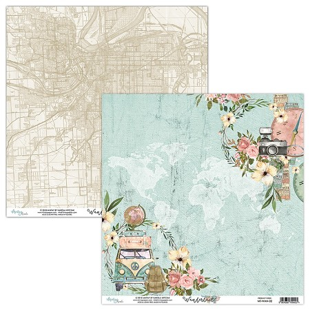 "Mintay by Karola - Wanderlust Collection - 12""x12"" Cardstock - #2"