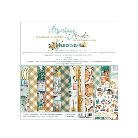 "Mintay by Karola - Wilderness Collection - 6""x6"" Paper Pad"