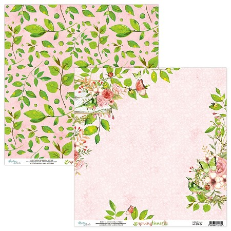 "Mintay by Karola - Springtime Collection - 12""x12"" Cardstock - #4"