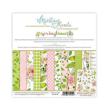 "Mintay by Karola - Springtime Collection - 6""x6"" Paper Pad"